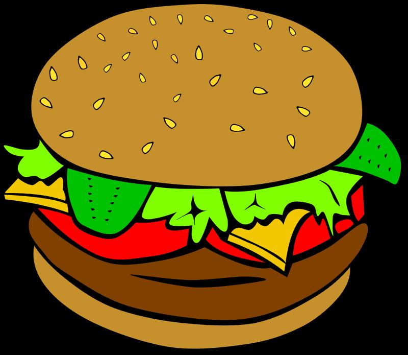 Cheeseburger clipart cartoon. Burger clip art library