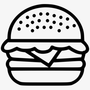 Hamburger icon png . Burger clipart outline