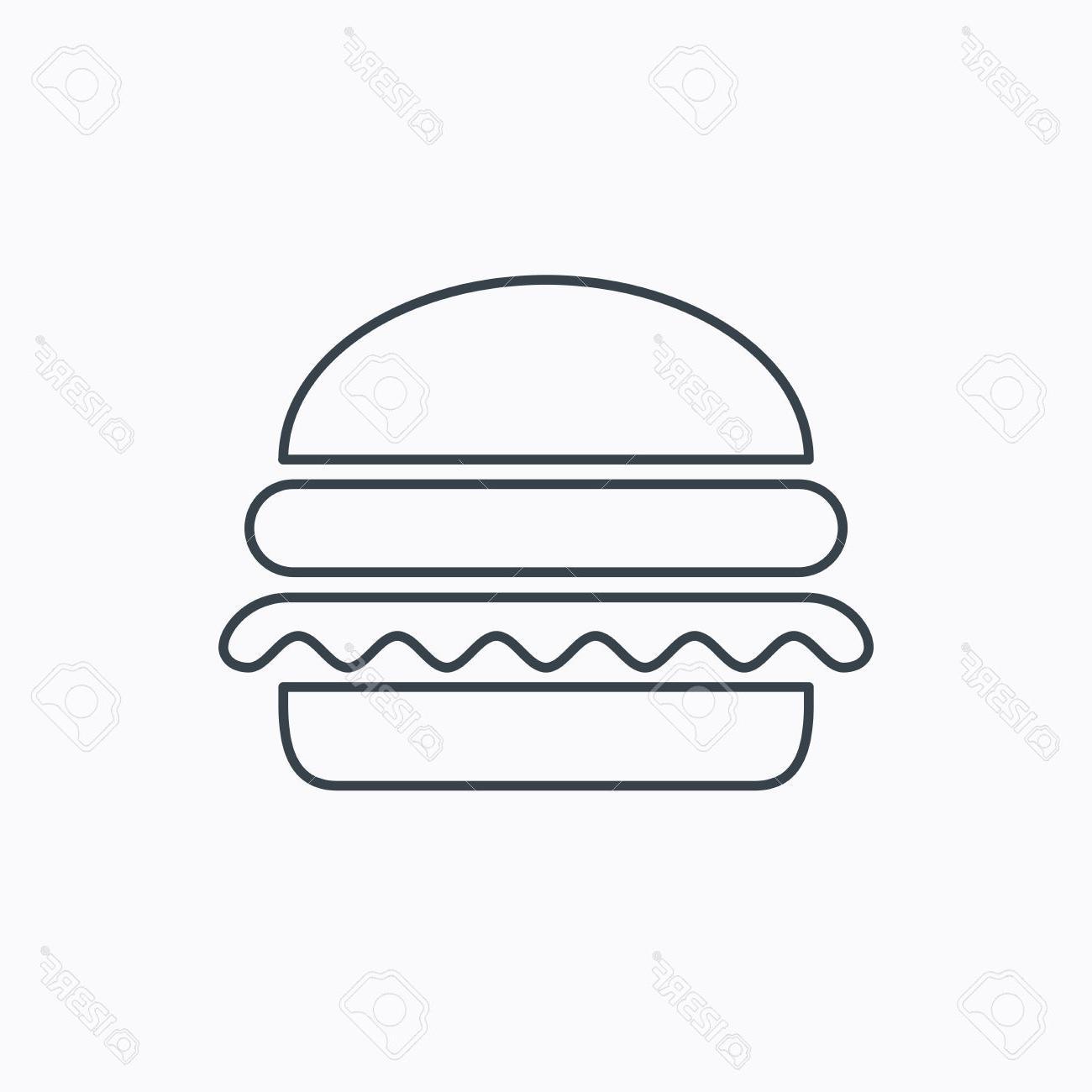 Best image vector art. Burger clipart outline