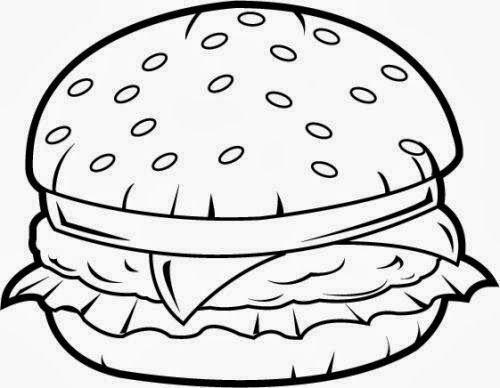 Burger clipart outline. Image result for mural
