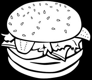 burger clipart outline