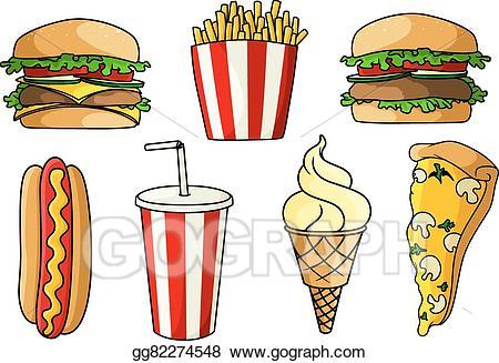 Burger clipart pizza burger. Vector illustration burgers hot