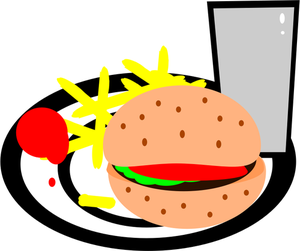 Burger Clipart Silhouette Burger Silhouette Transparent Free For
