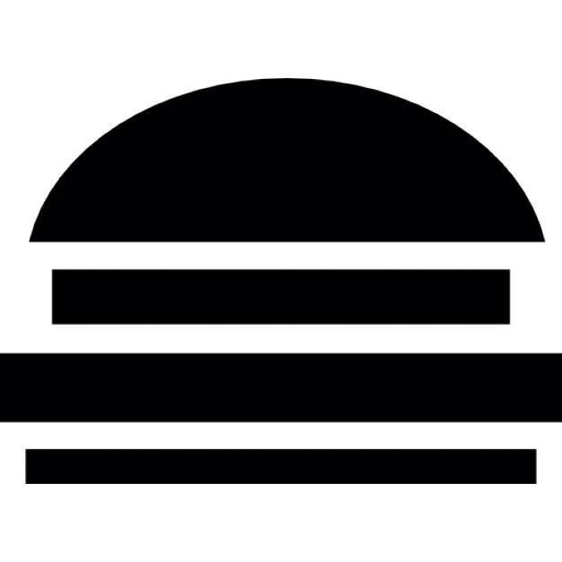 Burger clipart silhouette. Hamburger at getdrawings com