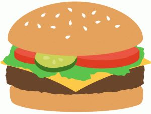 best picnic images. Burger clipart silhouette