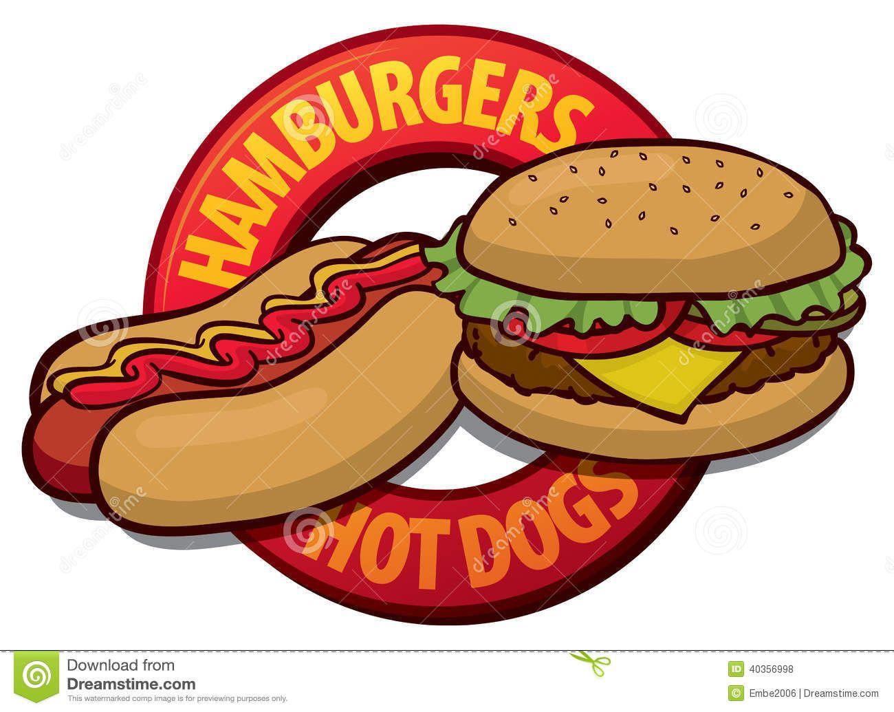 Hamburger silhouette at getdrawings. Chips clipart hot dog