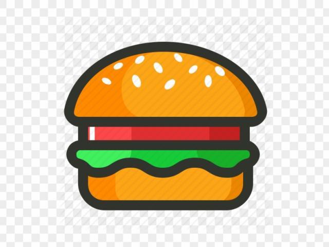 Free veggie download clip. Burger clipart simple