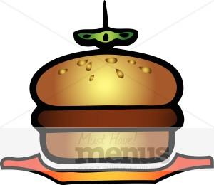 Burger clipart simple. Customize food symbols clip