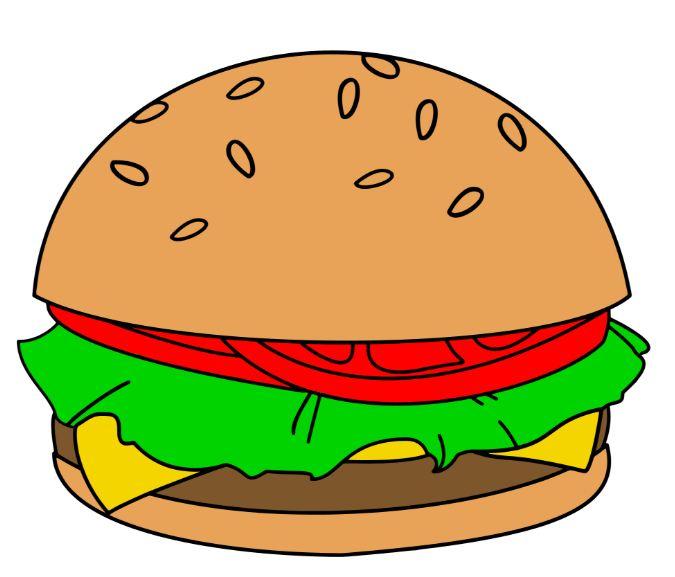 Borders clip art holy. Burger clipart simple