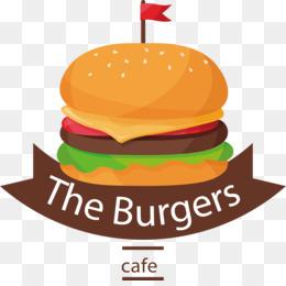 Hamburger cheeseburger fast food. Burger clipart simple