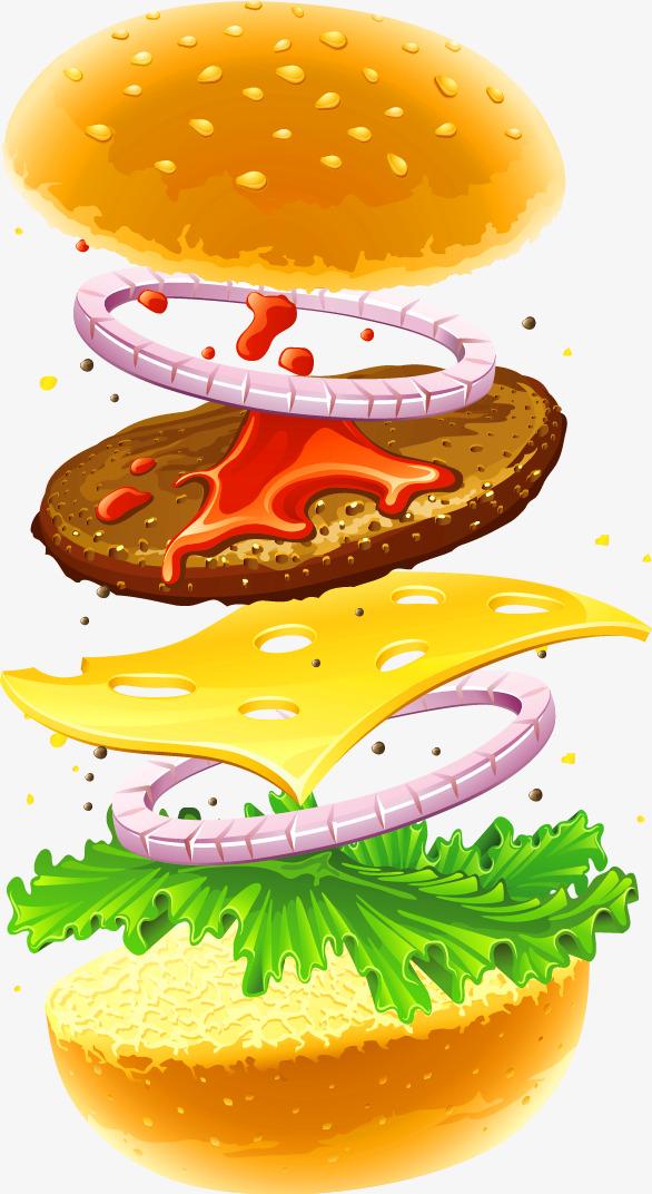 Burger clipart simple. Yellow decoration pattern hamburgers