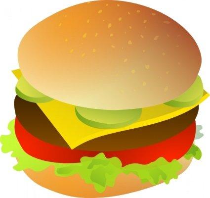 burger clipart simple