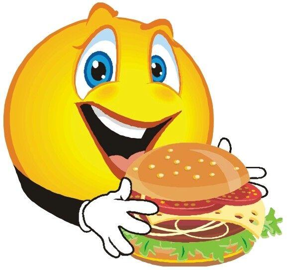 Emoticones emoji drinking and. Burger clipart smiley face