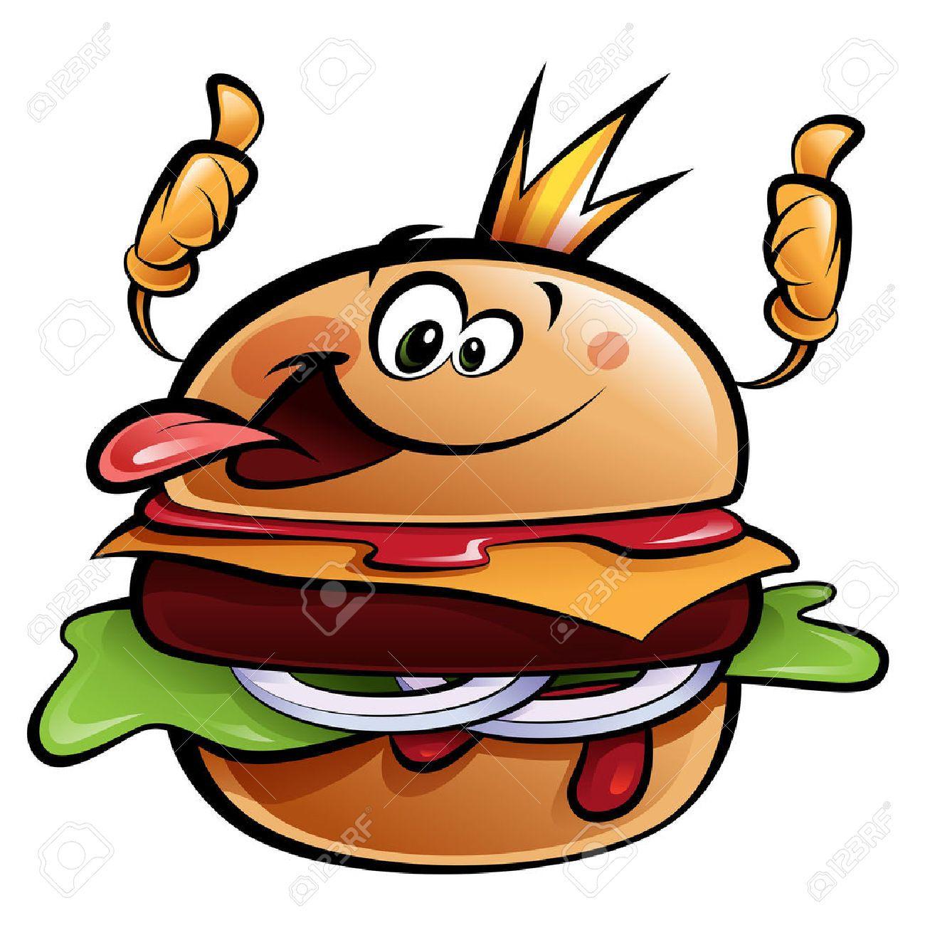 burger clipart smiley face