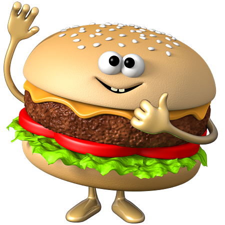 bc f d. Burger clipart smiley face