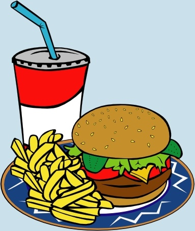 burger clipart soda