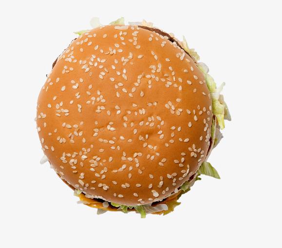 burger clipart top view