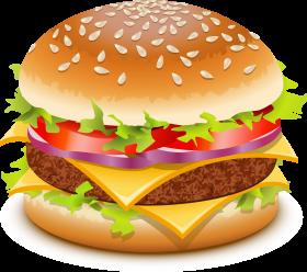 Burger clipart transparent background. Hamburger png image mac