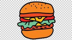 Burger clipart transparent background. Salad bowl food line