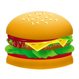 Thin pencil and in. Burger clipart transparent background