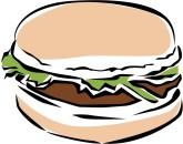 Panda free images info. Burger clipart veggie burger