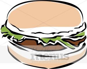 Fast food. Burger clipart veggie burger