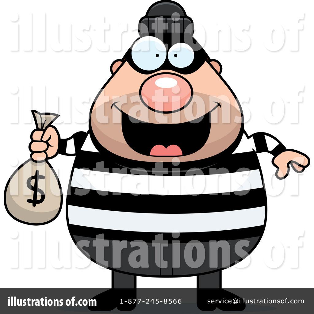 Burglar clipart. Illustration by cory thoman