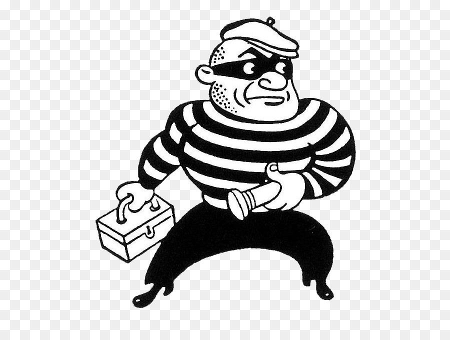 Burglar clipart. Cartoon black art transparent
