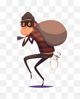 Thief png vectors psd. Burglar clipart animated