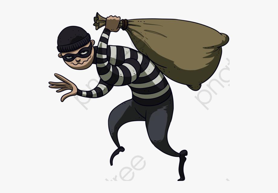 Burglar clipart animated. Cartoon robber png free