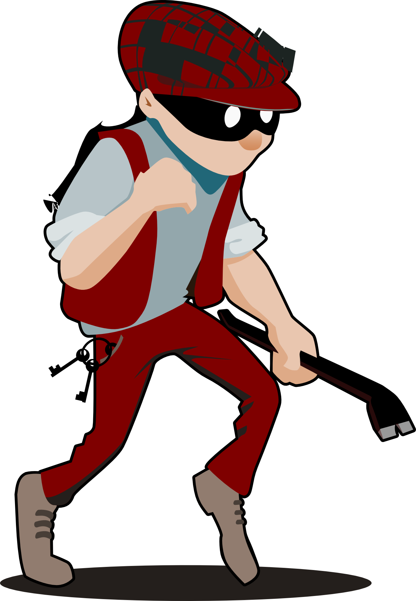 Male free image . Burglar clipart bad guy