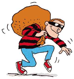 Security systems back to. Burglar clipart bad guy