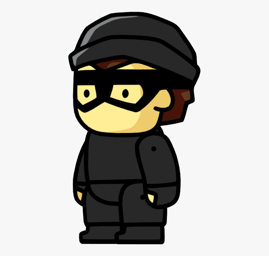 Thief scribblenauts png cliparts. Burglar clipart bad guy