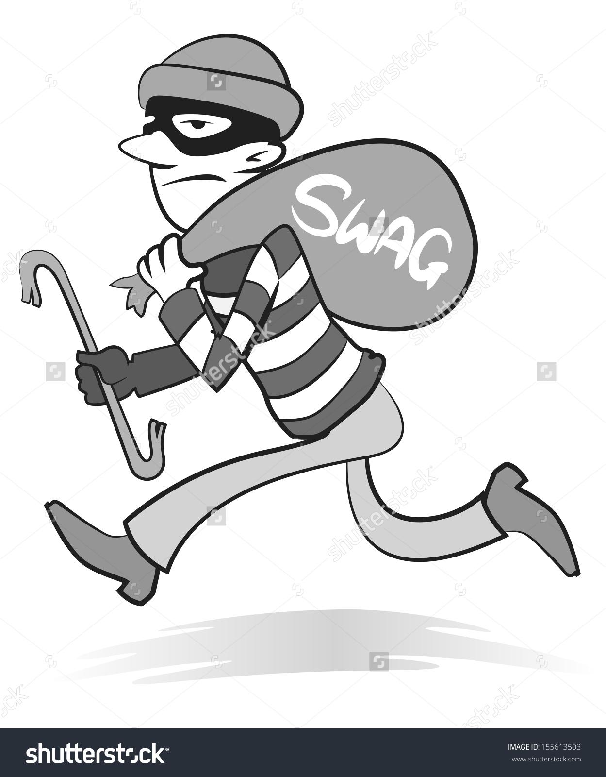 Burglar clipart bag. Swag