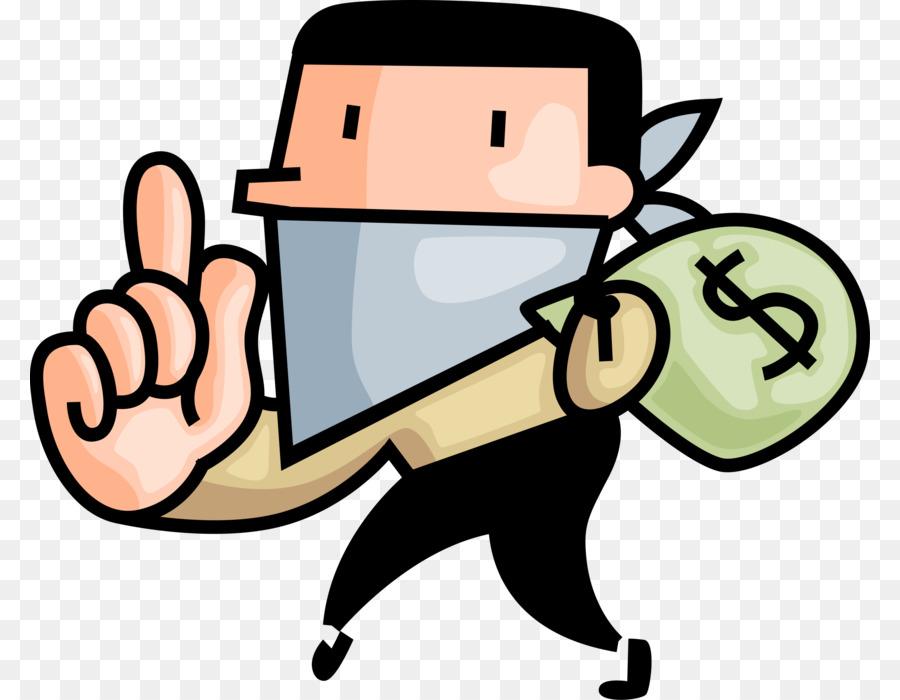 Cartoon finger hand transparent. Burglar clipart bank robber