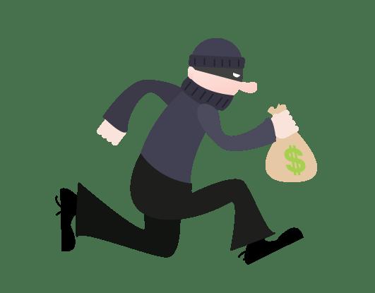 Burglar clipart bank robber. Rs million robbed of