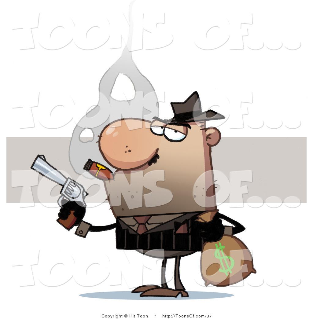 Cartoon of a thief. Burglar clipart bank robber