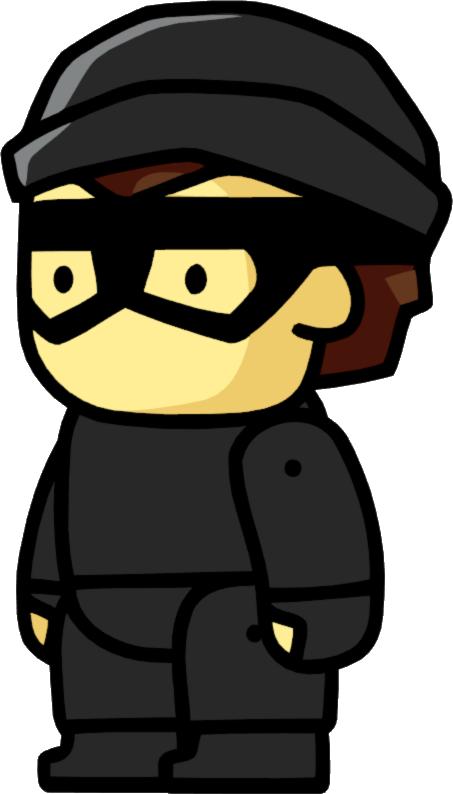 Cat burglar scribblenauts wiki. Crime clipart bank robber