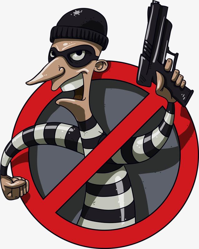 Burglar clipart bank robber. Png vectors psd and