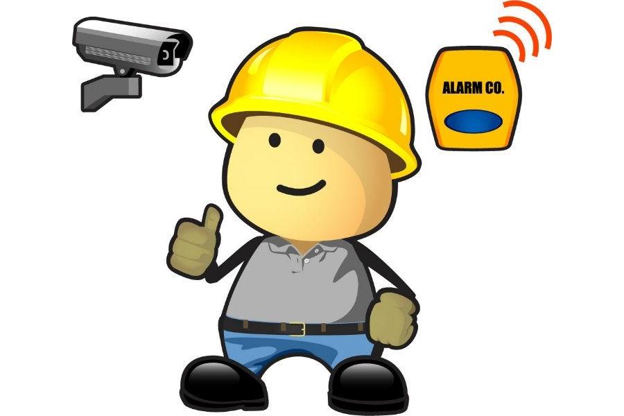 Burglar clipart burglar alarm. Cctv home security engineer