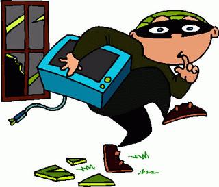 Burglar clipart burglar alarm. Night time lock up