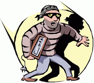 Houston family pays comcast. Burglar clipart burglar alarm