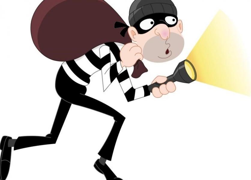 Burglars home made spare. Burglar clipart burglary