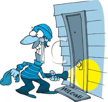 Burglar clipart burglary. One who commits panda