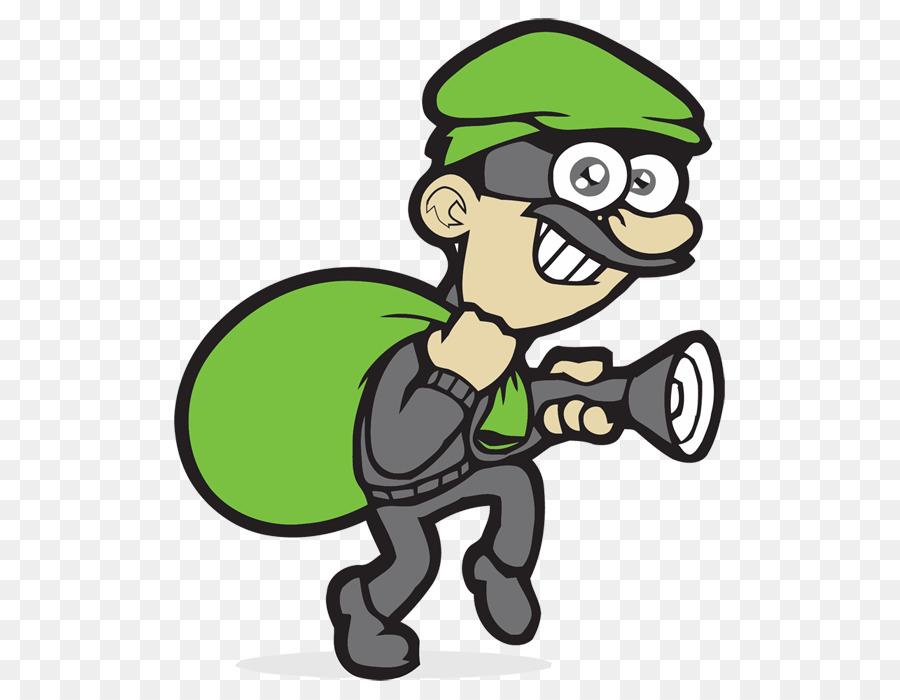 Burglar clipart burglary. Green background security cartoon
