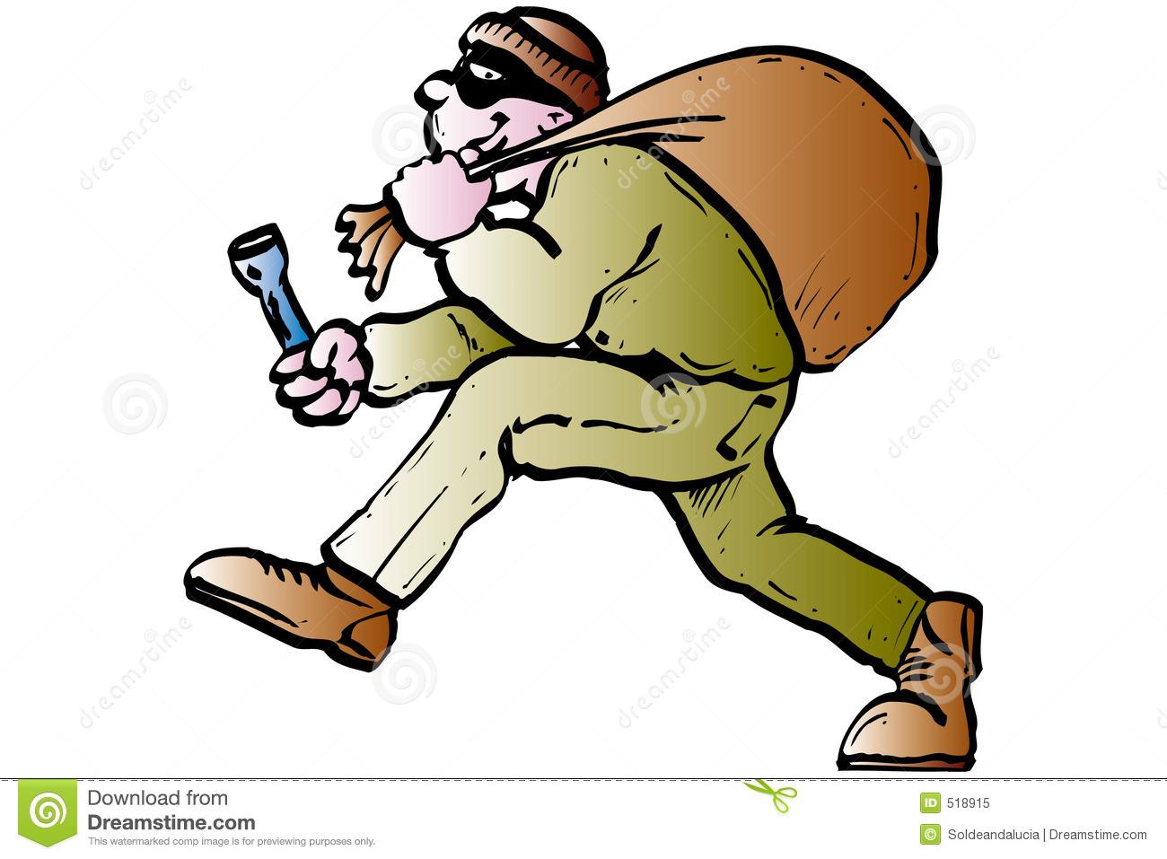 With mask stock vector. Burglar clipart burgler