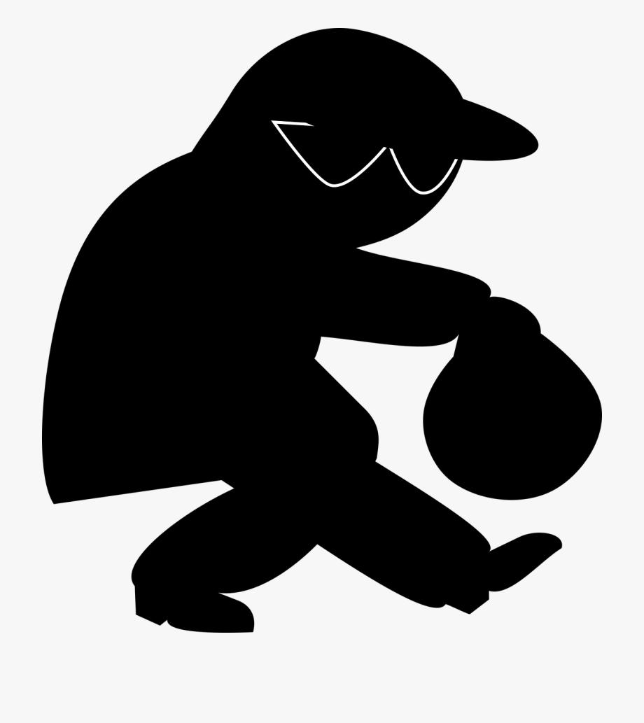 Burglar clipart burgler. Robber criminal cartoon theft