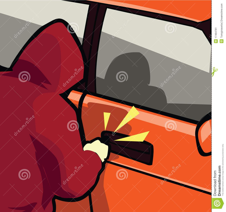 Stealing . Burglar clipart car