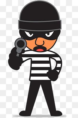 Robber png vectors psd. Burglar clipart cartoon