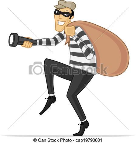 Burglar clipart cartoon. Sneaky thief